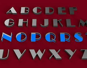 BROADWAY font uppercase and lowercase 3D lettersSTL file