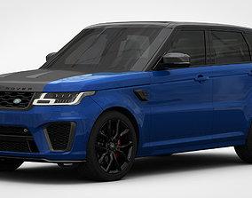 Range Rover Sport SVR 2018 Detailed Interior 3D