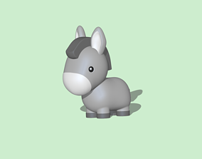 3D print model A Cute Donkey to decorate and play