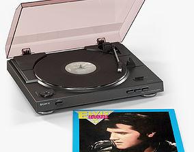 Sony PS-LX300USB with Vinyl Record 3D asset