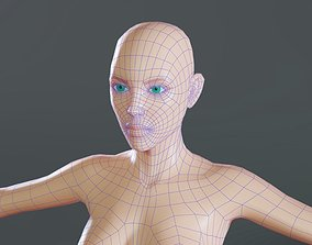 3D asset Female base mesh topology