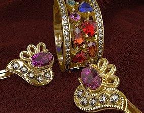 Ring and Earrings 3D model