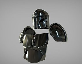 The Mandalorian Beskar steel armor 3D printable model 3