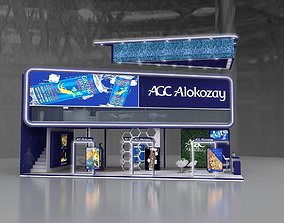 Exhibition stand 3D model 12x6 mtr 3 sides Mezzanine