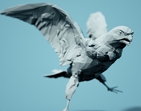 Low Poly Bird Model figurines
