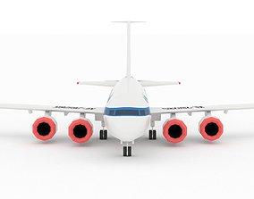 Passenger Airplane Stylized lowpoly 3D asset