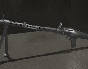 3D asset Maschinengewehr 34 WWII Weapon