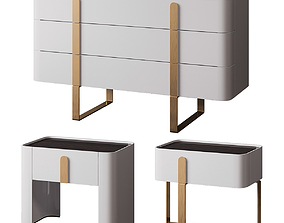 Dresser and bedside tables EDEN 3D model