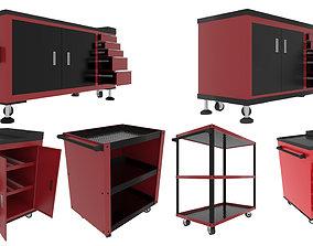 Workshop Service Trolley set 3D