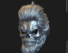 3D printable model Skull bearded vol1 Pendant jewelry