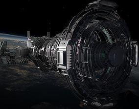 2050 Space Station 3D model