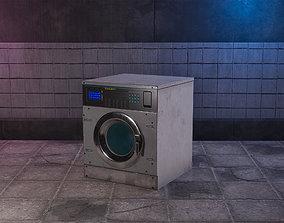 3D model Cyberpunk Laundry Room Washing Machine Game-Ready