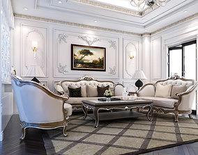 Livingroom Neo classic 3D model