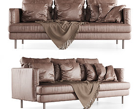 3D model Leather lounge sofa