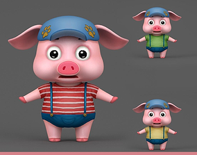 3D model Cartoon Pig