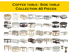 3D Coffee table - Side table Collection 40 Pieces