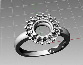 Halo ring H-5 3D printable model