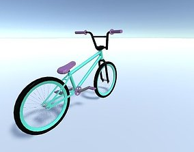 game-ready Low-poly BMX model