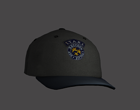 STARS RPD HAT 3D model low-poly