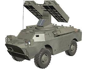 Gaskin 9K31 Strela Rocket Vehicle 3D model
