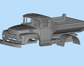 Fewer parts Cab TRUCK ZIL 130 STL printable bodies