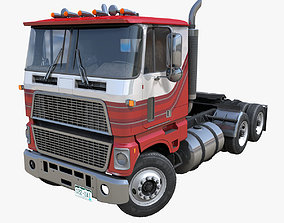 3D asset American daycab cabover semitruck