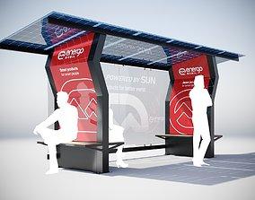 Solar Bus Stop 3D