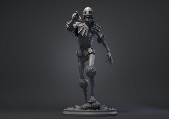 Judge Death statue fan art