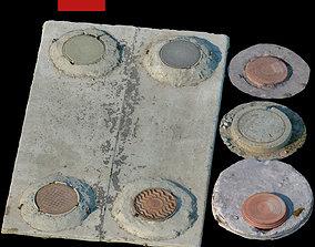 194 Sewer manholes 3D model