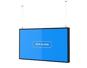 3D model marketing Digital Panel Horizontal 43 Inch