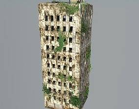 Destroyed Building ruin skyscraper 3D
