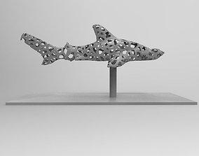 3D print model Hammer Shark Voronoi decoration