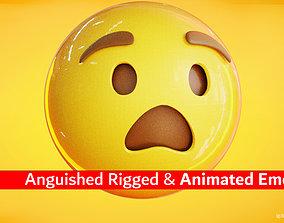 3D asset Anguished Animated Emoji Reaction
