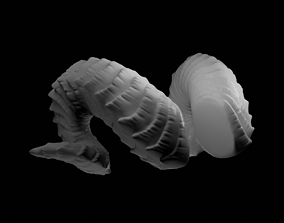 Small Curled Horns - Laura 3D printable model
