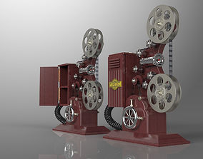 3D Retro Film projector