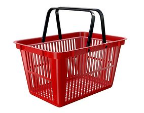 3D model plastic shopping basket