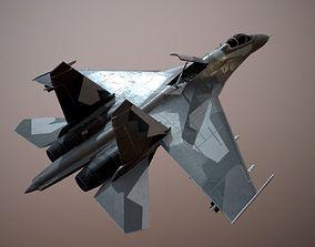 3D model animated Su-27 Flanker