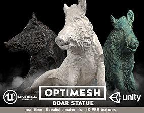 Boar wild hog statue - 3D BR model VR / AR ready