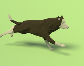 3D model Rigged Low Poly Dog