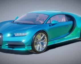 realtime Hyper Car Bugatti Chiron 3D Model