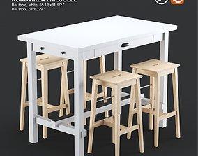 Ikea NORDVIKEN bar table and NILSOLLE bar stool 3D model 2