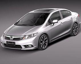 si 3D Honda Civic Sedan 2012