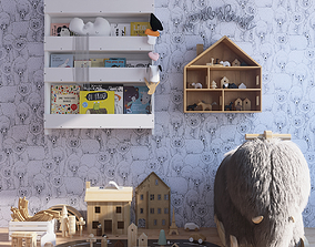 Toys and furniture set 3D