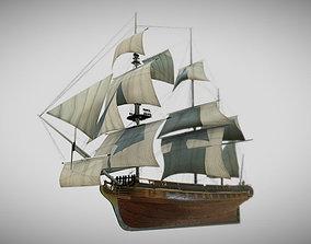 3D asset HMS Bounty
