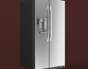 3D model LG Side-by-Side Refrigerator
