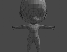 Chibi body 3D model