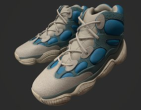 YEEZY 500 High - Frosted Blue - Kanye West - 3D model