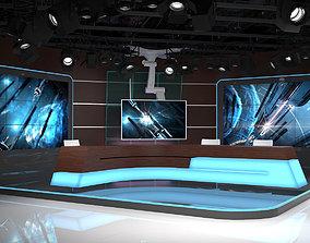 3D model Virtual TV Studio 06