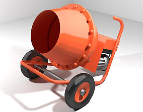 Concrete Mixer Machine - Type 2 3D
