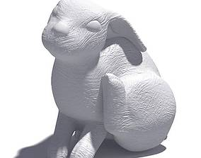 3D model White Rabbit Scratching Sculpture